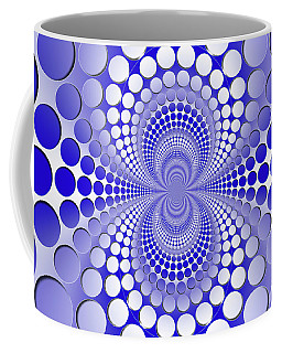 Abstract Blue And White Pattern Coffee Mug