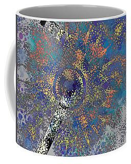 Abstract Blue Dots Coffee Mug