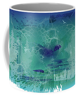 Coffee Mug featuring the digital art Abstract Blue Green by Robert G Kernodle