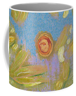Coffee Mug featuring the painting Abstract Blue Purple 4817 by Patricia Cleasby