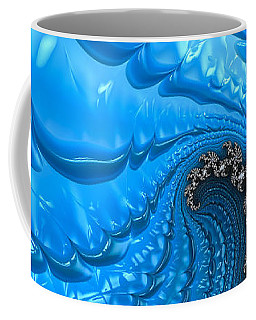 Abstract Blue Winter Fractal Coffee Mug