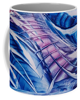 Abstract Blue With Pink Centre Coffee Mug