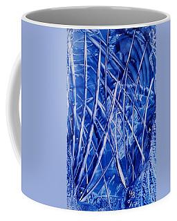 Abstract Blues Encaustic Coffee Mug