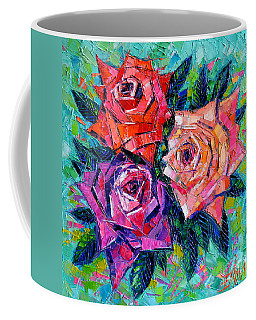 Abstract Bouquet Of Roses Coffee Mug