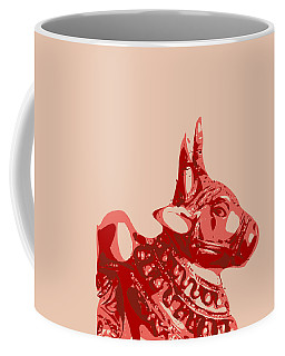 Abstract Bull Contours Coffee Mug by Keshava Shukla