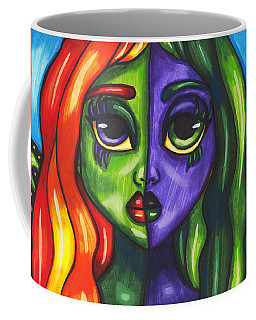 Abstract Butterfly Fairy Girl Coffee Mug