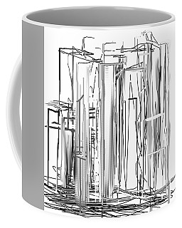 Abstract City Coffee Mug by Jessica Wright