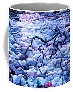 Abstract Claw Driftwood And Cobblestones At Cobblestone Beach, Acadia National Park Coffee Mug