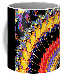 Coffee Mug featuring the digital art Abstract Collage Of Colors by Phil Perkins