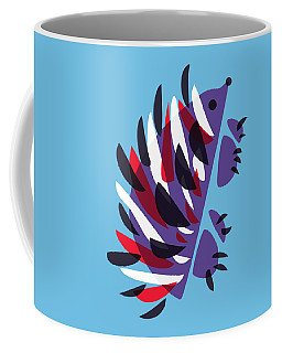 Abstract Colorful Hedgehog Coffee Mug