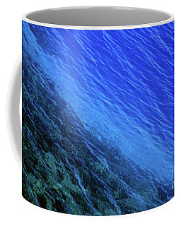 Abstract Crater Lake Blue Water Coffee Mug