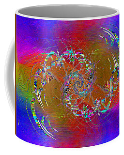 Coffee Mug featuring the digital art Abstract Cubed 351 by Tim Allen