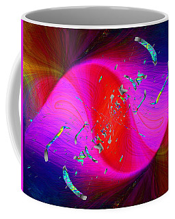 Coffee Mug featuring the digital art Abstract Cubed 354 by Tim Allen