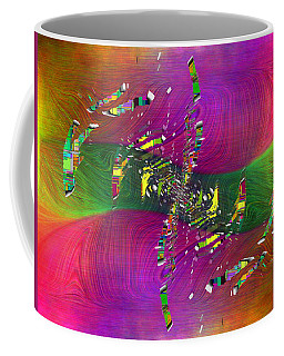 Coffee Mug featuring the digital art Abstract Cubed 357 by Tim Allen