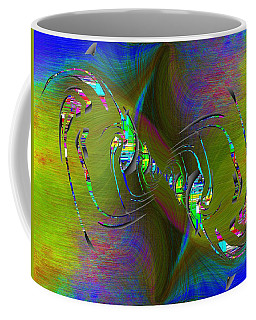 Coffee Mug featuring the digital art Abstract Cubed 361 by Tim Allen
