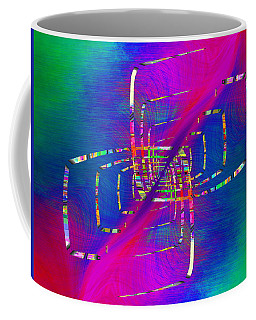 Coffee Mug featuring the digital art Abstract Cubed 363 by Tim Allen