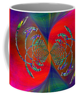 Coffee Mug featuring the digital art Abstract Cubed 366 by Tim Allen