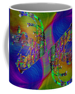 Coffee Mug featuring the digital art Abstract Cubed 368 by Tim Allen