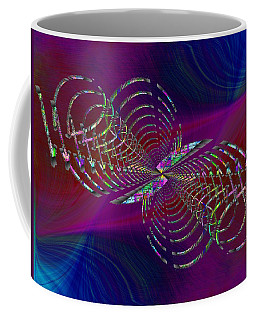 Coffee Mug featuring the digital art Abstract Cubed 369 by Tim Allen