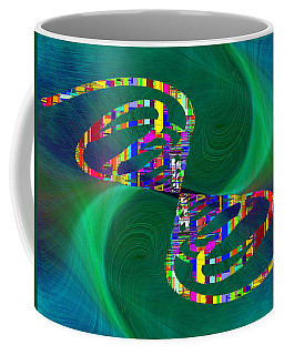 Coffee Mug featuring the digital art Abstract Cubed 374 by Tim Allen