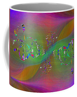 Coffee Mug featuring the digital art Abstract Cubed 376 by Tim Allen