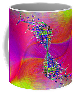 Coffee Mug featuring the digital art Abstract Cubed 377 by Tim Allen