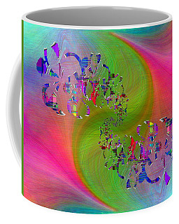 Coffee Mug featuring the digital art Abstract Cubed 381 by Tim Allen