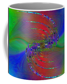 Coffee Mug featuring the digital art Abstract Cubed 384 by Tim Allen