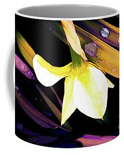 Abstract Daffodil And Droplets Coffee Mug