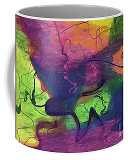 Colorful Abstract Cloud Swirling Lines Coffee Mug
