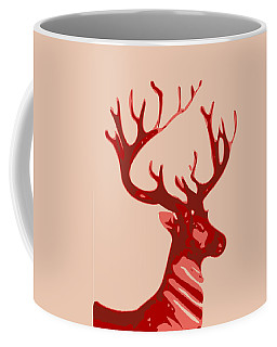 Abstract Deer Contours Glaze Coffee Mug