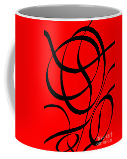 Abstract Design In Red And Black Coffee Mug
