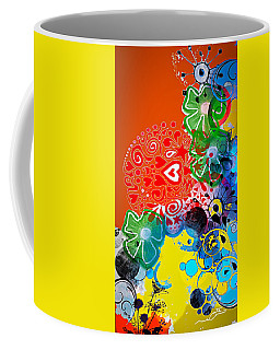 Abstract Digital Love Coffee Mug
