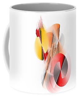Abstract Digital Red And Yellow Coffee Mug