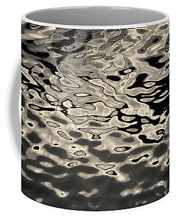 Coffee Mug featuring the photograph Abstract Dock Reflections I Toned by David Gordon
