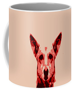 Abstract Dog Contours Coffee Mug by Keshava Shukla