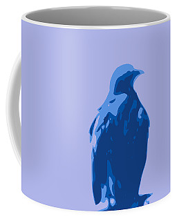 Abstract Eagle Contours Blue Coffee Mug by Keshava Shukla