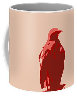 Abstract Eagle Contours Red Coffee Mug by Keshava Shukla