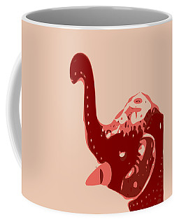 Abstract Elephant Baby Doll Glaze Coffee Mug