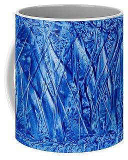 Abstract Encaustic Blues Coffee Mug