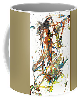 Coffee Mug featuring the painting Abstract Expressionism Painting Series 1039.050812 by Kris Haas