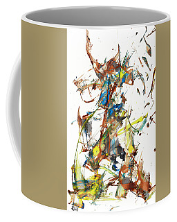 Coffee Mug featuring the painting Abstract Expressionism Painting Series 1040.050812 by Kris Haas