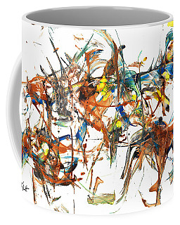 Coffee Mug featuring the painting Abstract Expressionism Painting Series 1041.050812 by Kris Haas