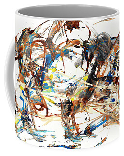 Coffee Mug featuring the painting Abstract Expressionism Painting Series 1042.050812 by Kris Haas