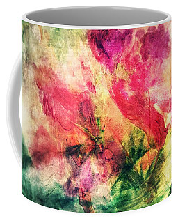 Coffee Mug featuring the photograph Abstract Floral 17-01 by Maria Urso
