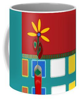 Abstract Floral Art 129 Coffee Mug