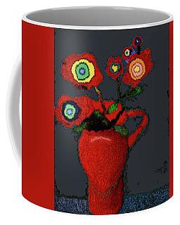 Abstract Floral Art 90 Coffee Mug