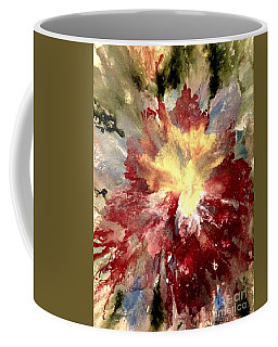 Coffee Mug featuring the painting Abstract Flower by Denise Tomasura