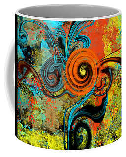 Abstract Flower Coffee Mug