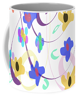 Abstract Garden Nr 7 Naif Style Coffee Mug